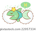 Pisces Mascot is sleeping. Zodiac Character 22057334