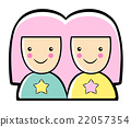 Cartoon Style Twins Mascot. Gemini Constellation 22057354