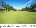 高尔夫球场 开球区 绿色 22058878