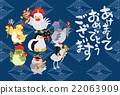 七福神 鸟儿 鸟 22063909