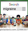 Migraine Symptoms Diagnosis Disturbed Vision Concept 22066307