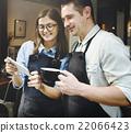 Cappuccino Cafe Caucasian Coffee Apron Connection Concept 22066423