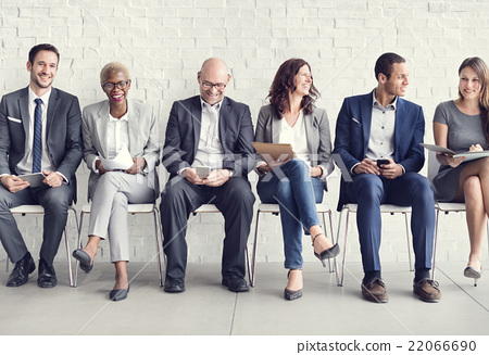 Stock Photo: Business People Meeting Corporate Digital Device Connection Conc