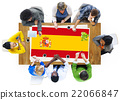Spain National Flag Business Team Meeting Concept 22066847