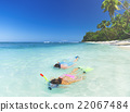 Couple Snorkelling Summer Beach Vacation Concept 22067484