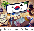 South Korea National Flag Business Communication Connection Conc 22067654