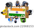 India Flag Patriotism Indian Pride Unity Concept 22068153