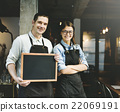 barista, blackboard, coffee 22069191