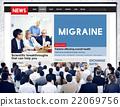 Migraine Symptoms Diagnosis Disturbed Vision Concept 22069756