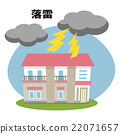 thunder, lightning strike, house 22071657