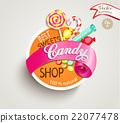 Candy shop label 22077478