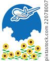 여름 비행기로가는 여행 22078007