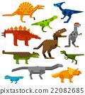 vector, dinosaur, tyrannosaurus 22082685