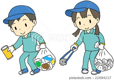 Garbage picking child - Stock Illustration [22084217] - PIXTA