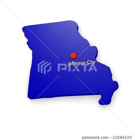 3d map of Missouri 22084229