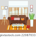 room, vector, interior 22087033