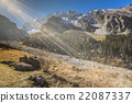 The panorama of mountain landscape of Ala-Archa 22087337