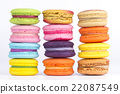 multicolor macaron on white background 22087549