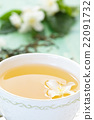Green tea and jasmine. 22091732