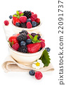 Fresh fruits in bowl. 22091737
