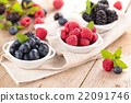 Fresh berries in bowls. 22091746