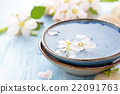 Scented water and flowers. 22091763