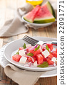 Watermelon salad with mint. 22091771