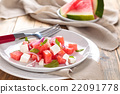 Watermelon salad with mint. 22091778