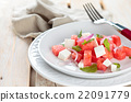 Watermelon salad with mint. 22091779