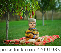 little cute boy with the harvest 22091985