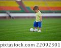 little funny boy on football stadium 22092301