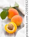 Ripe apricots. 22093632