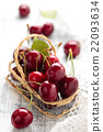 Ripe cherries. 22093634