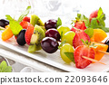 Fruits on sticks. 22093646