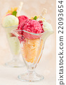 Fruit ice-cream. 22093654