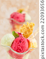 Fruit ice-cream. 22093656