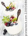 Yogurt with berries 22093686
