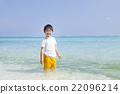 南国の海と男の子 22096214