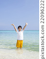 南国の海と男の子 22096222