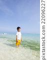 南国の海と男の子 22096227