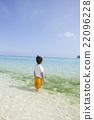 南国の海と男の子 22096228