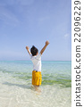 南国の海と男の子 22096229