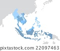 Circle dot South east Asia and nearby countries ma 22097463
