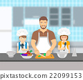 father cooking kitchen 22099153