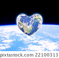 The earth in the shape of a heart,  22100313