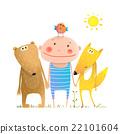 kid, bear, animal 22101604