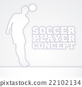 Concept Silhouette Soccer Player 22102134