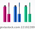 mascara, cosmetic, vector 22102289