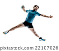 man handball player isolated 22107026