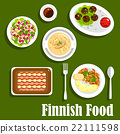 finnish, cuisine, vector 22111598